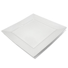Тарелка «Белый квадрат» 25 см