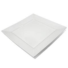 Тарелка «Белый квадрат» 30 см