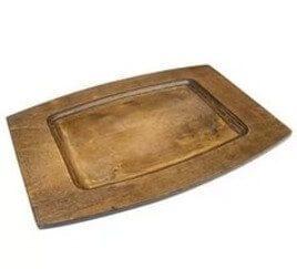 Тарелка прямоугольная деревянная 35x25см