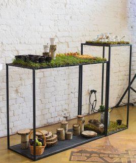 Аренда декоративных фуршетных столов для выездных мероприятий