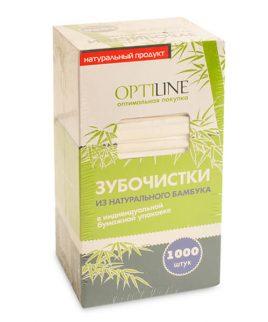 """Зубочистки в индивидуальной упаковке """"Optiline"""" 1000 шт."""